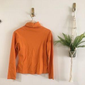 Tops - Orange Turtleneck Thermal